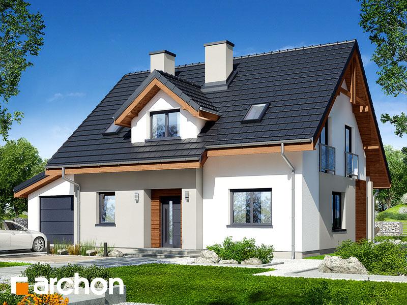 Проект будинку ARCHON+ Будинок в хлорофітумі 5 (ГА) Вид 1