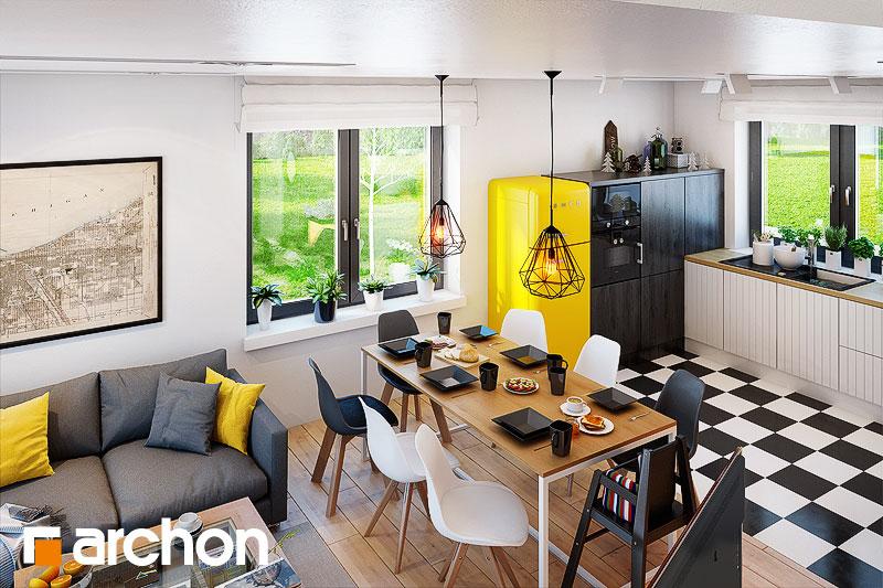 Проект будинку ARCHON+ Будинок в хлорофітумі 5 (ГА) денна зона (візуалізація 1 від 6)
