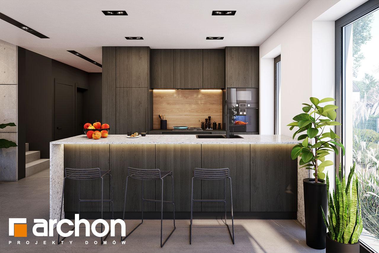 Проект будинку ARCHON+ Будинок в шишковиках 6 (Е) візуалізація кухні 1 від 1