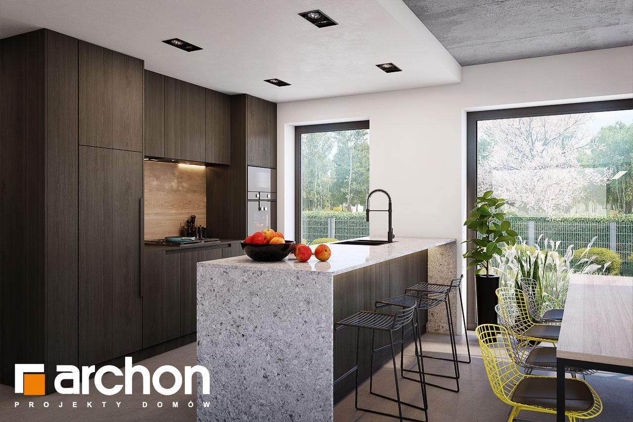 Проект будинку ARCHON+ Будинок в шишковиках 6 (Е) візуалізація кухні 1 від 2