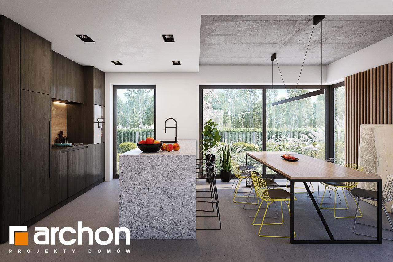 Проект будинку ARCHON+ Будинок в шишковиках 6 (Е) візуалізація кухні 1 від 3