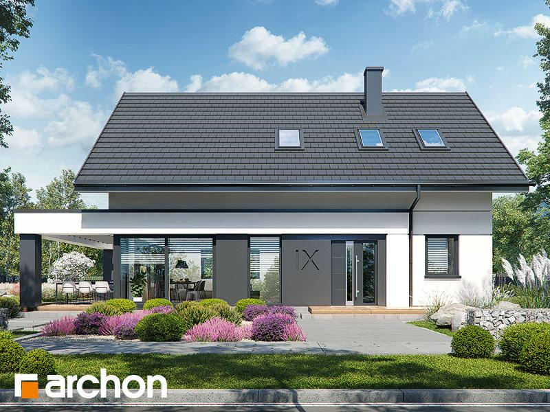 Проект будинку ARCHON+ Будинок в шишковиках 6 (Е) Вид 2
