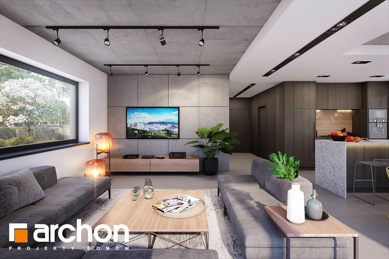 Проект будинку ARCHON+ Будинок в шишковиках 6 (Е) денна зона (візуалізація 1 від 1)
