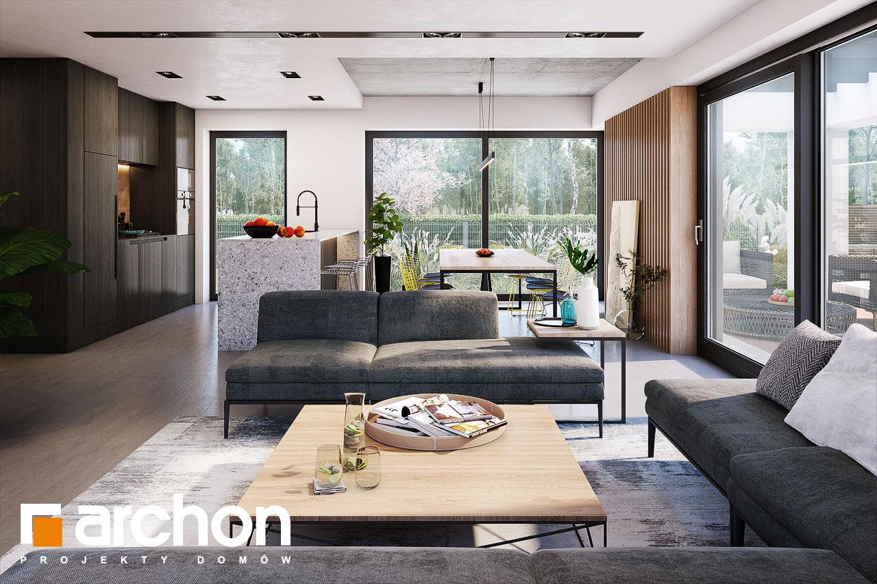Проект будинку ARCHON+ Будинок в шишковиках 6 (Е) денна зона (візуалізація 1 від 2)