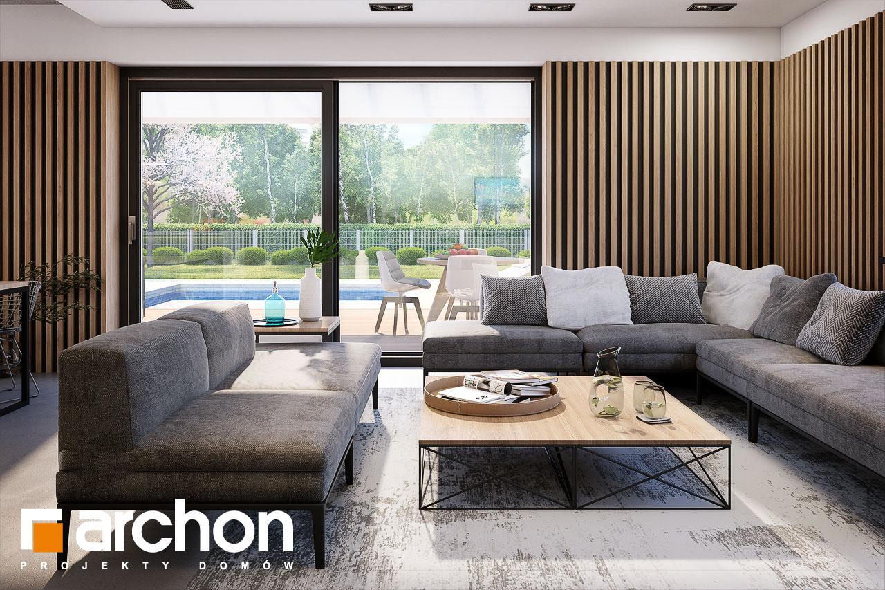 Проект будинку ARCHON+ Будинок в шишковиках 6 (Е) денна зона (візуалізація 1 від 3)
