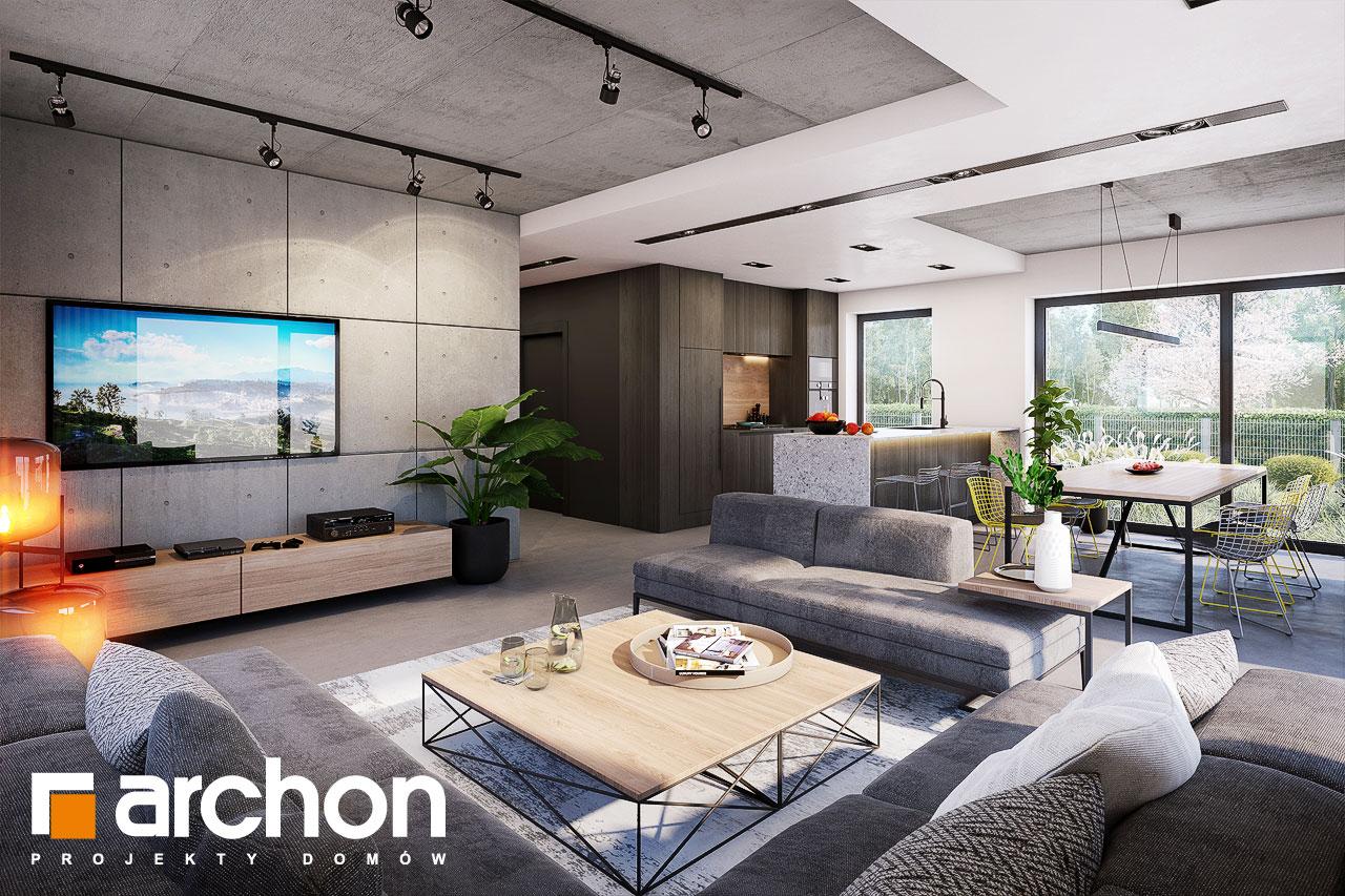Проект будинку ARCHON+ Будинок в шишковиках 6 (Е) денна зона (візуалізація 1 від 6)