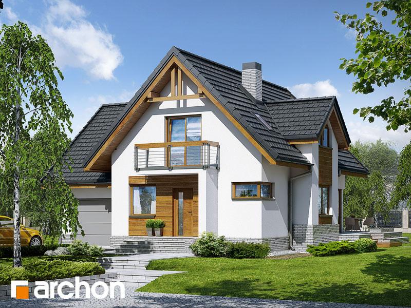 Проект будинку ARCHON+ Будинок в абрикосах (H) вер.2 Вид 1