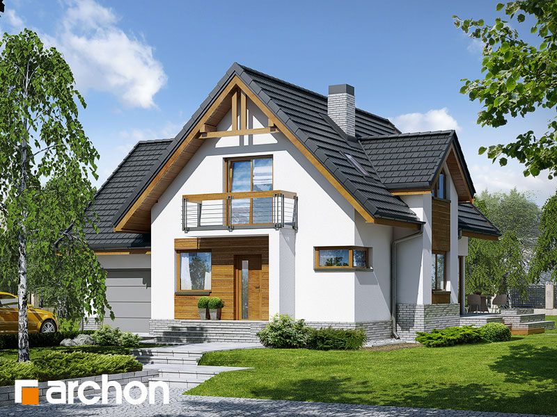 Проект дома ARCHON+ Дом в абрикосах (H) ver.2 Вид 1