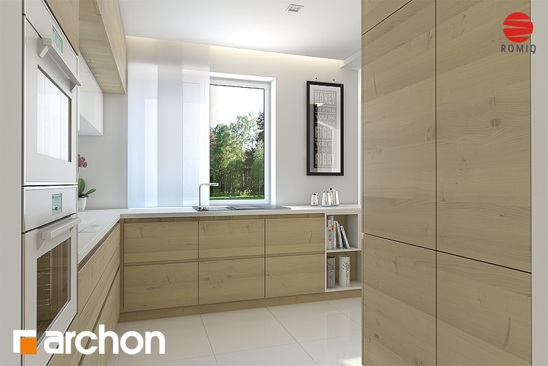 Проект дома ARCHON+ Дом в авокадо (ГП) визуализация кухни 1 вид 3