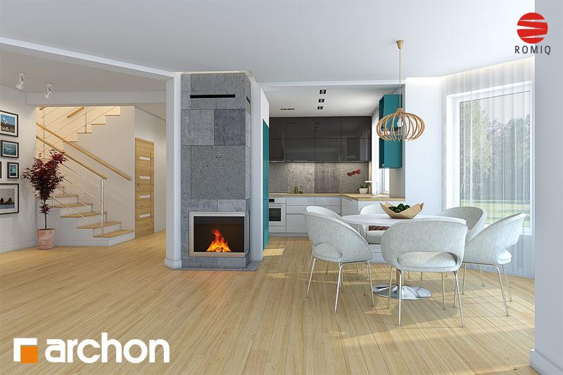 Проект дома ARCHON+ Дом в авокадо (ГП) визуализация кухни 2 вид 1