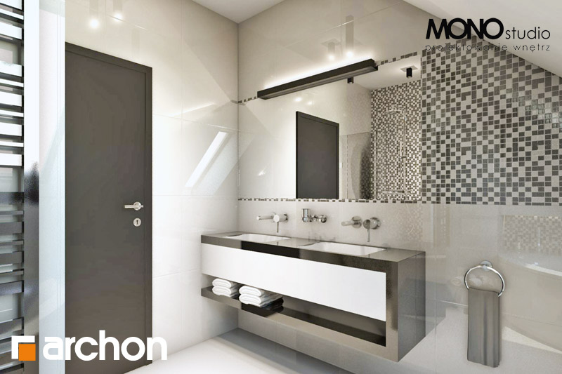 Проект будинку ARCHON+ Будинок в авокадо (ГП) візуалізація ванни (візуалізація 3 від 2)