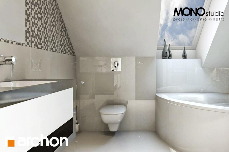 Проект дома ARCHON+ Дом в авокадо (ГП) визуализация ванной (визуализация 3 вид 1)