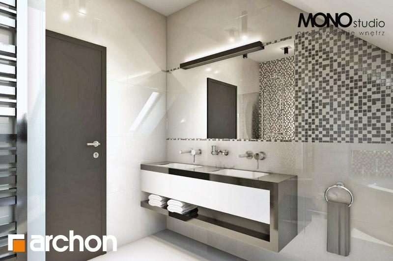 Проект дома ARCHON+ Дом в авокадо (ГП) визуализация ванной (визуализация 3 вид 2)