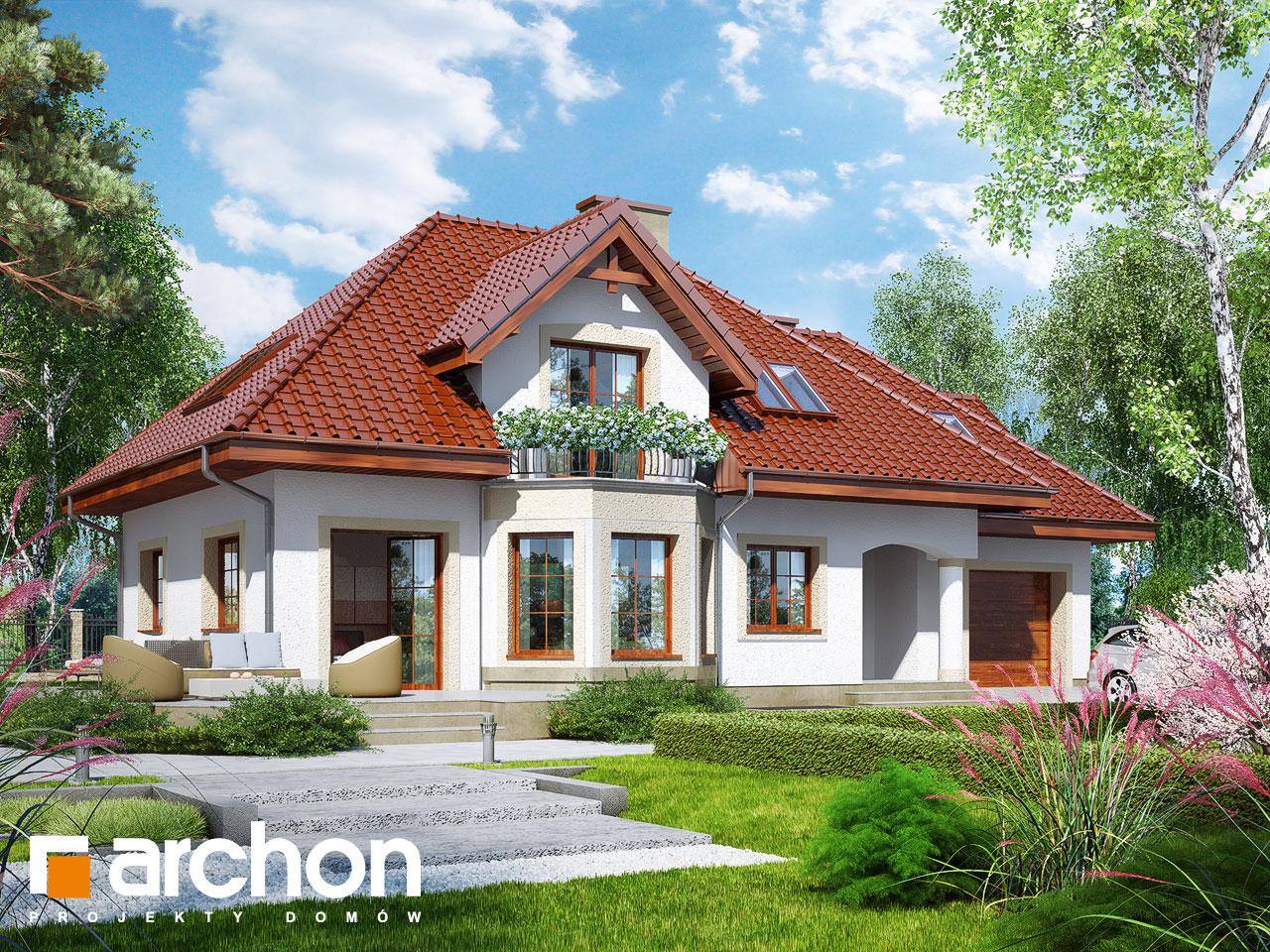 Проект будинку ARCHON+ Будинок в авокадо (ГП) Вид 2