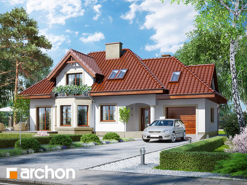 Проект будинку ARCHON+ Будинок в авокадо (ГП) Вид 1