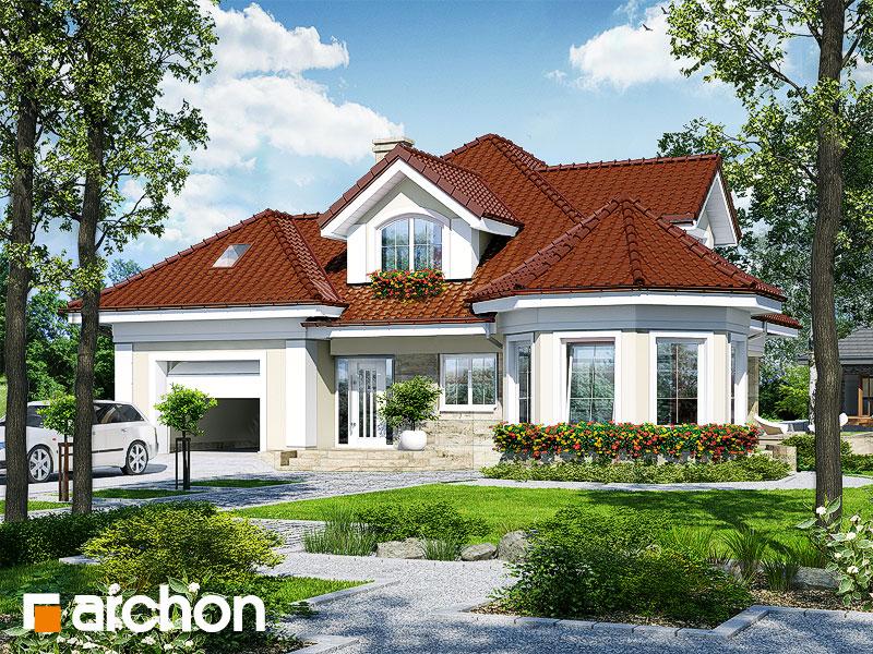 Проект будинку ARCHON+ Будинок під юкою 4 стилізація 3