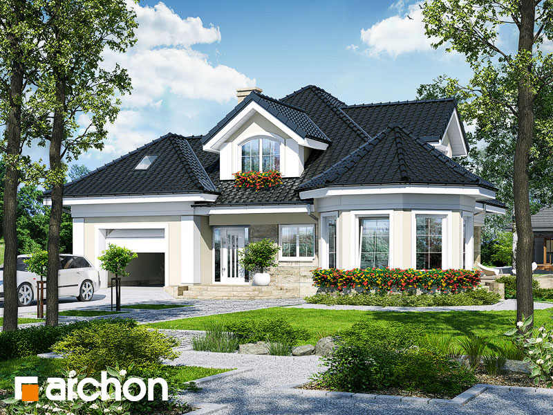 Проект будинку ARCHON+ Будинок під юкою 4 Вид 1