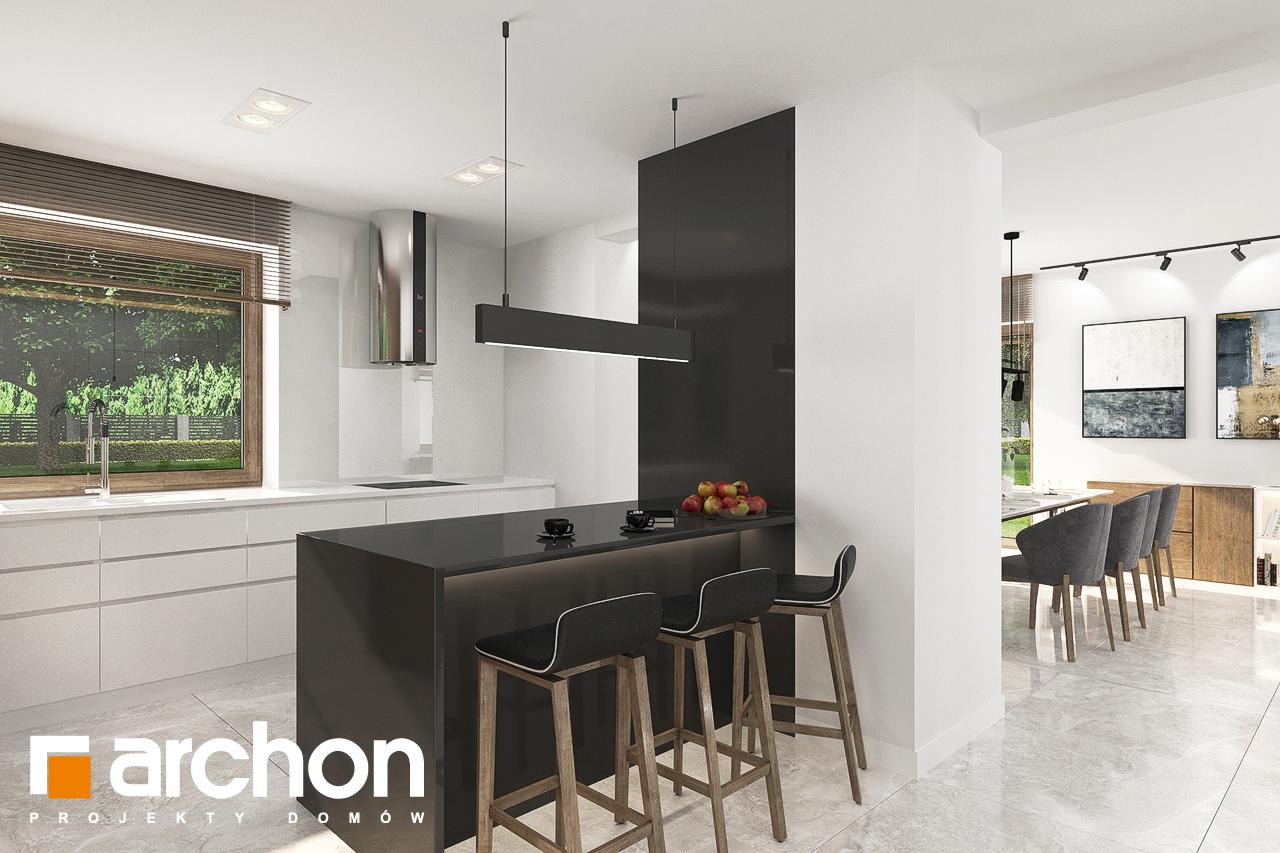 Проект будинку ARCHON+ Будинок в алоказіях візуалізація кухні 1 від 2