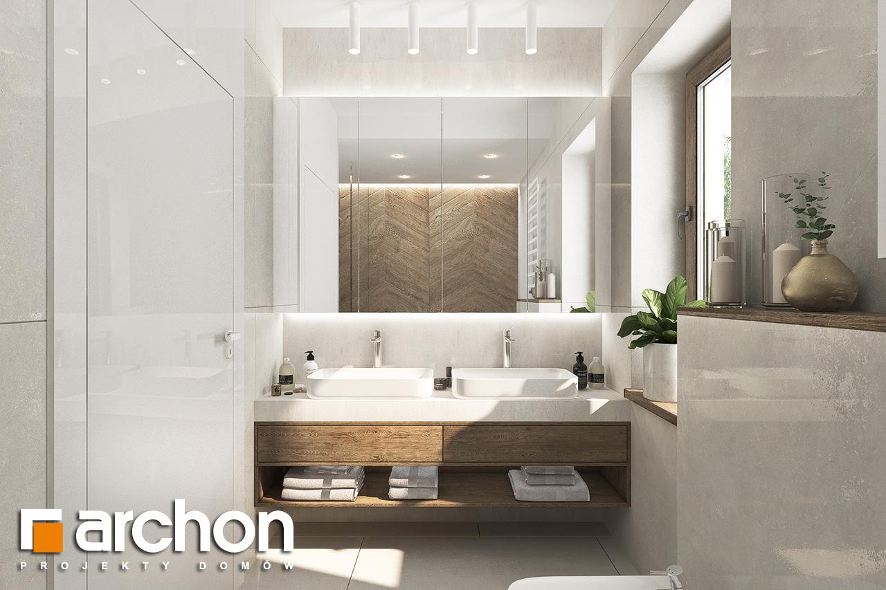 Проект будинку ARCHON+ Будинок в алоказіях візуалізація ванни (візуалізація 3 від 1)