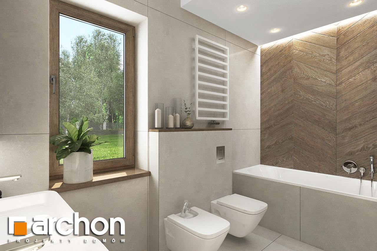 Проект будинку ARCHON+ Будинок в алоказіях візуалізація ванни (візуалізація 3 від 2)