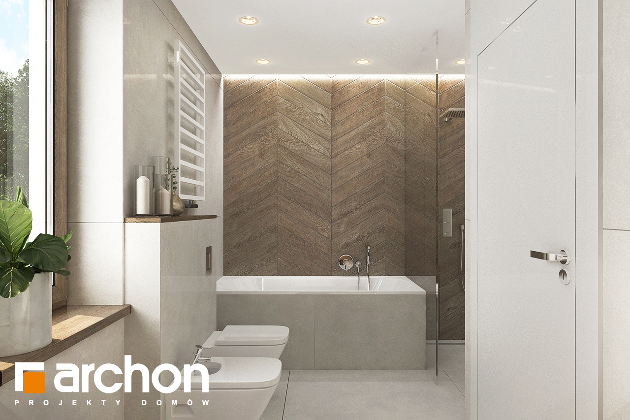 Проект будинку ARCHON+ Будинок в алоказіях візуалізація ванни (візуалізація 3 від 3)