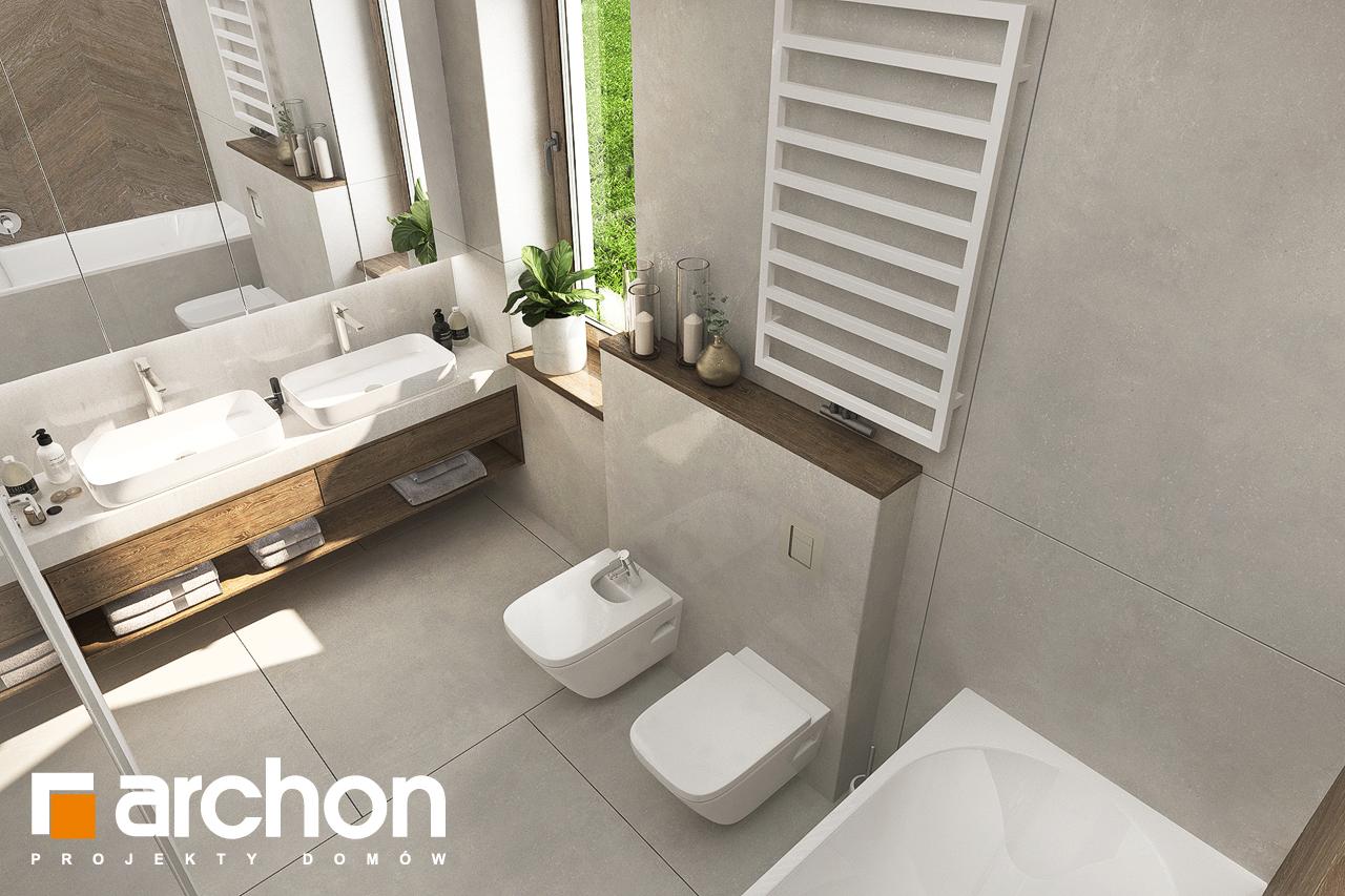 Проект будинку ARCHON+ Будинок в алоказіях візуалізація ванни (візуалізація 3 від 4)