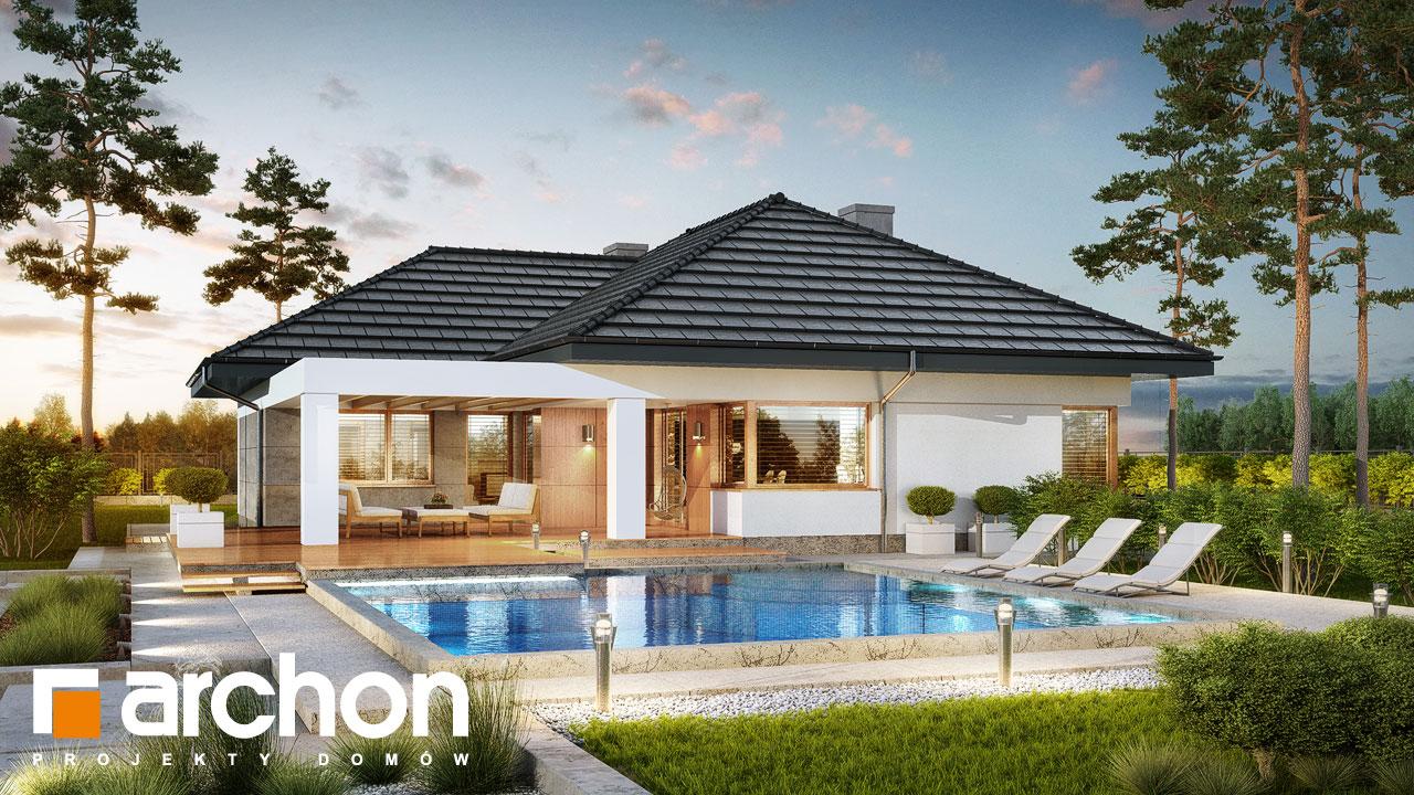Проект будинку ARCHON+ Будинок в алоказіях стилізація 4