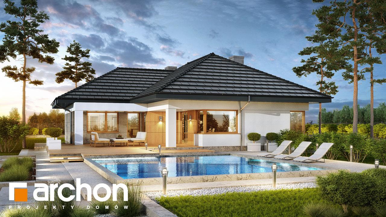 Проект будинку ARCHON+ Будинок в алоказіях Вид 2