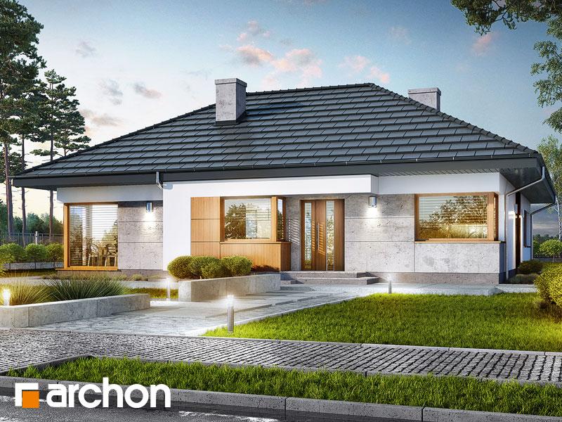Проект будинку ARCHON+ Будинок в алоказіях Вид 1