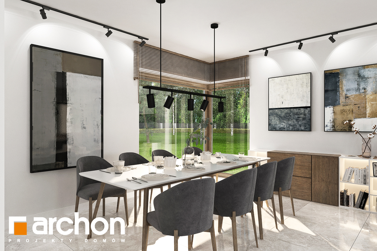 Проект будинку ARCHON+ Будинок в алоказіях денна зона (візуалізація 1 від 2)