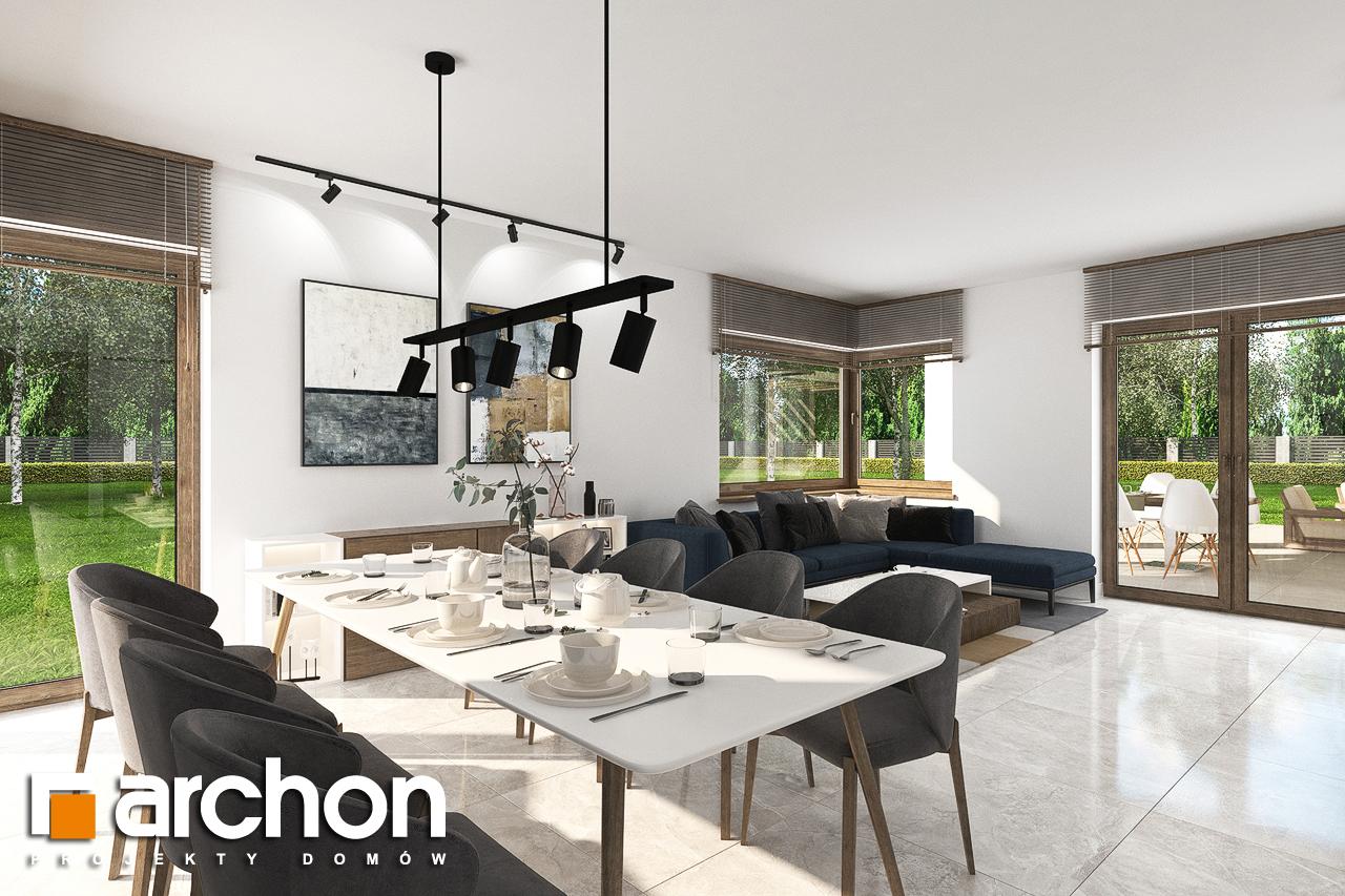 Проект будинку ARCHON+ Будинок в алоказіях денна зона (візуалізація 1 від 3)