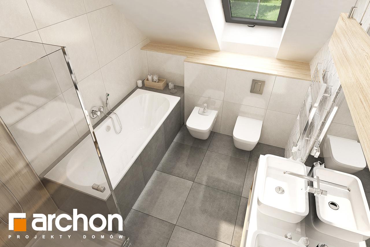 Проект будинку ARCHON+ Будинок в малинівці 8 (Г) візуалізація ванни (візуалізація 3 від 4)