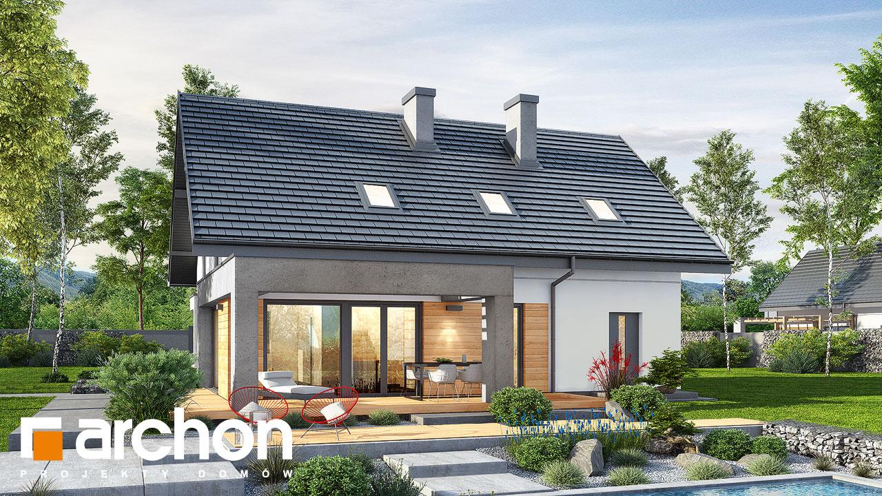 Проект будинку ARCHON+ Будинок в малинівці 8 (Г) Вид 2