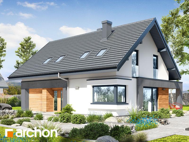 Проект будинку ARCHON+ Будинок в малинівці 8 (Г) Вид 1