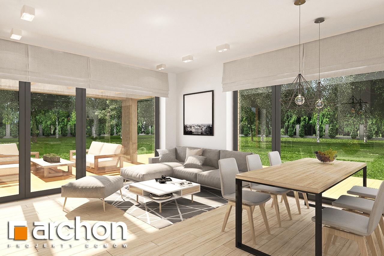 Проект будинку ARCHON+ Будинок в малинівці 8 (Г) денна зона (візуалізація 1 від 2)