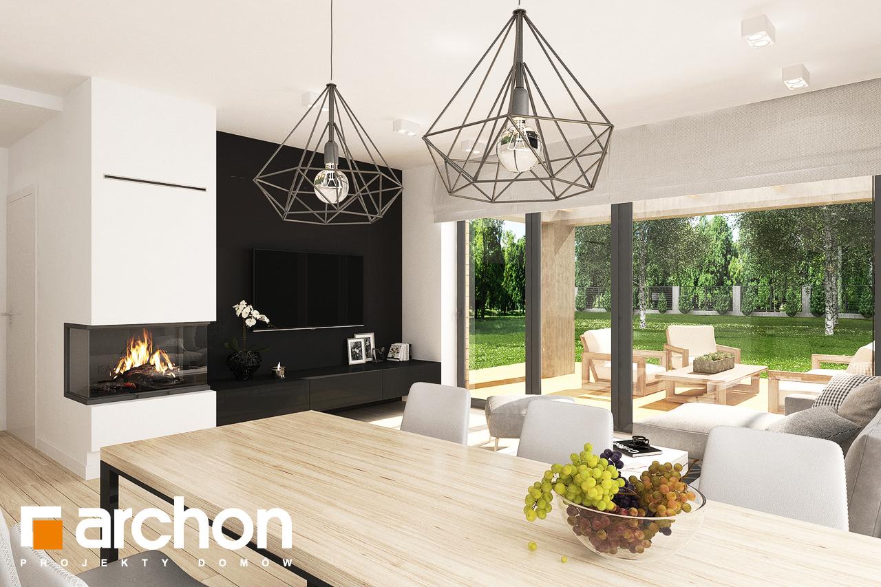 Проект будинку ARCHON+ Будинок в малинівці 8 (Г) денна зона (візуалізація 1 від 4)