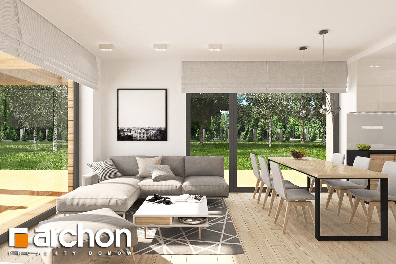 Проект будинку ARCHON+ Будинок в малинівці 8 (Г) денна зона (візуалізація 1 від 5)