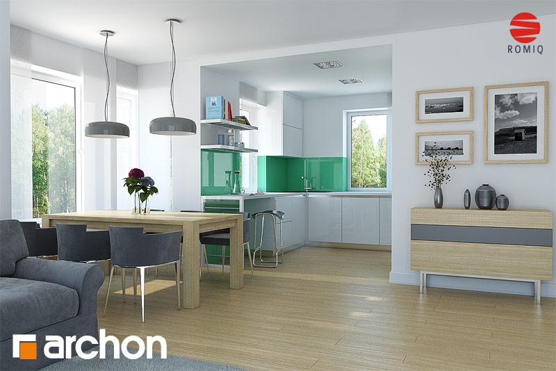 Проект будинку ARCHON+ Будинок в конюшинках вер.2 аранжування кухні 1 від 1