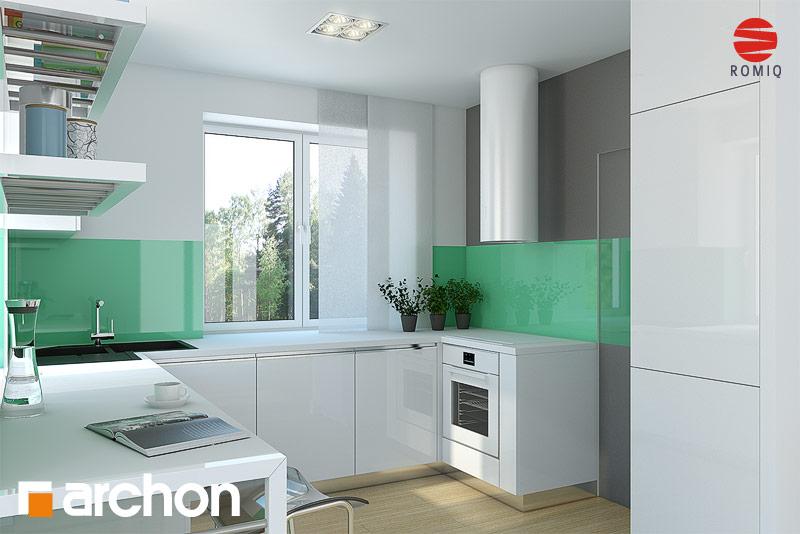 Проект будинку ARCHON+ Будинок в конюшинках вер.2 аранжування кухні 1 від 2