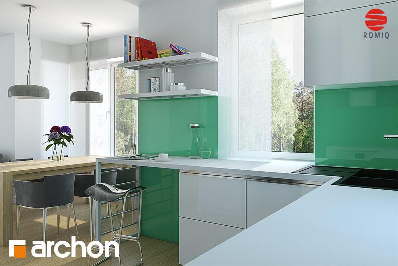 Проект будинку ARCHON+ Будинок в конюшинках вер.2 аранжування кухні 1 від 3