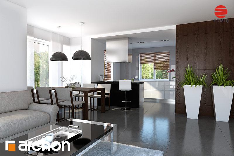Проект будинку ARCHON+ Будинок в конюшинках вер.2 аранжування кухні 2 від 1