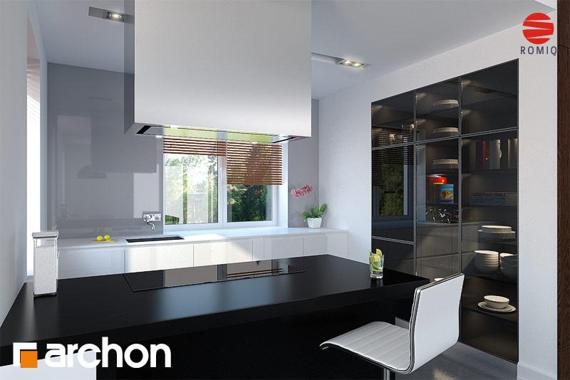 Проект будинку ARCHON+ Будинок в конюшинках вер.2 аранжування кухні 2 від 2