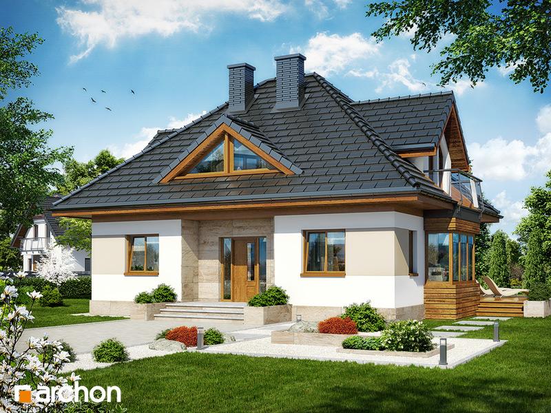 Проект будинку ARCHON+ Будинок в конюшинках вер.2 стилізація 3
