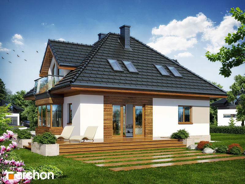 Проект будинку ARCHON+ Будинок в конюшинках вер.2 стилізація 4