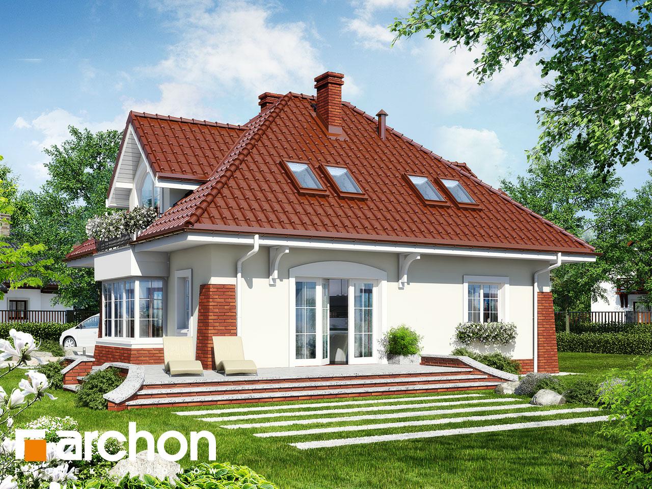 Проект будинку ARCHON+ Будинок в конюшинках вер.2 Вид 2