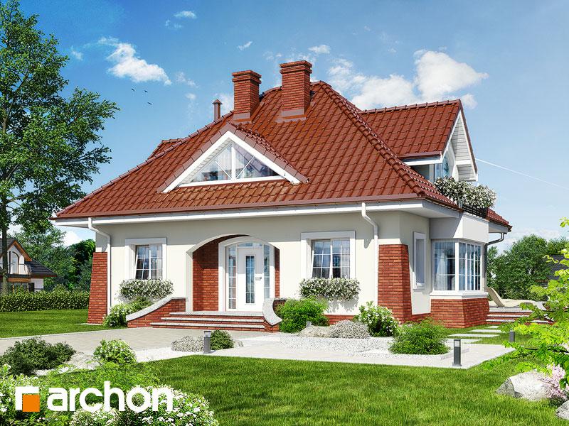 Проект будинку ARCHON+ Будинок в конюшинках вер.2 Вид 1