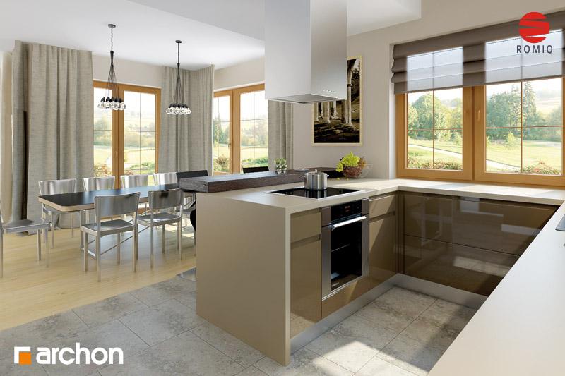 Проект будинку ARCHON+ Будинок в каллах 3 вер.2 аранжування кухні 1 від 1