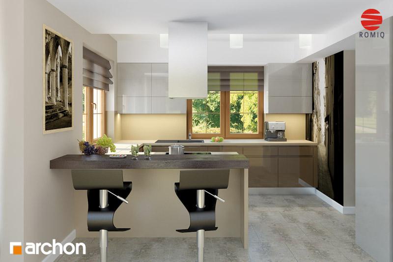 Проект будинку ARCHON+ Будинок в каллах 3 вер.2 аранжування кухні 1 від 2