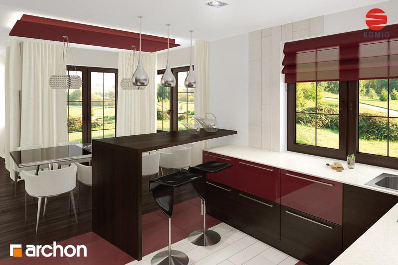 Проект будинку ARCHON+ Будинок в каллах 3 вер.2 аранжування кухні 2 від 1