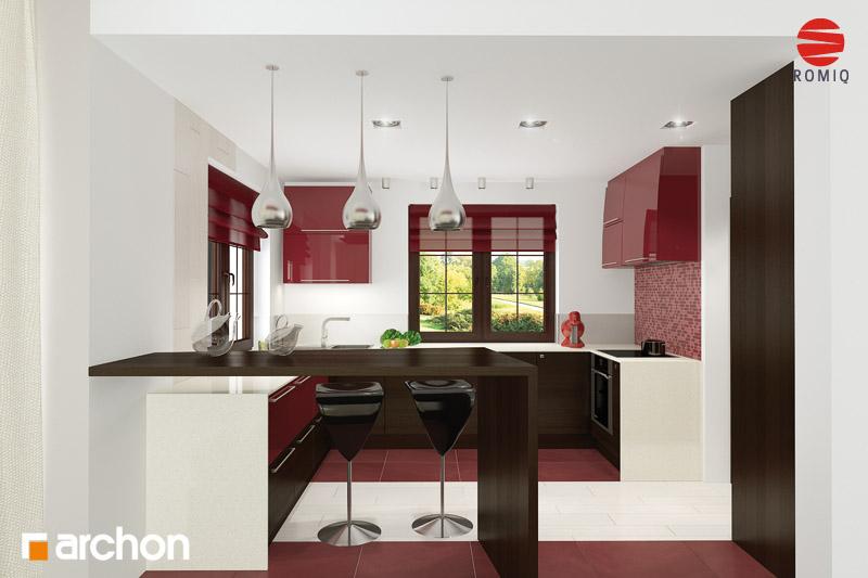 Проект будинку ARCHON+ Будинок в каллах 3 вер.2 аранжування кухні 2 від 2